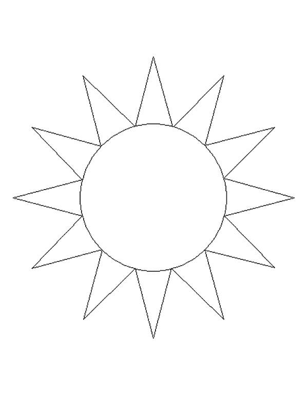 Free coloring and drawings Sun in black and white Coloring page