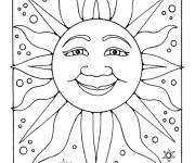 Coloring pages Sun in space