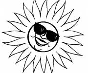 Coloring pages Sun is having fun