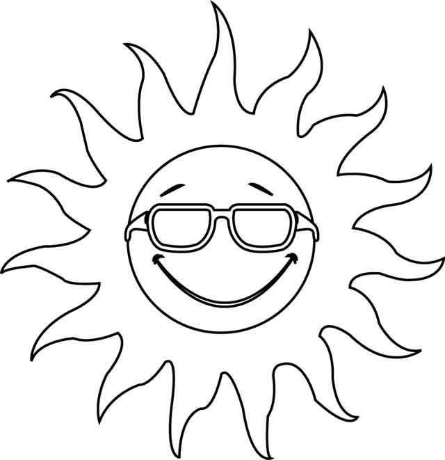 Free coloring and drawings Sun is watching you Coloring page