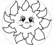 Coloring pages Sun model