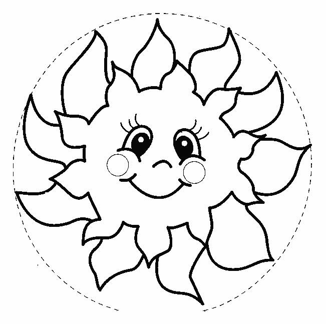 Free coloring and drawings Sun model Coloring page