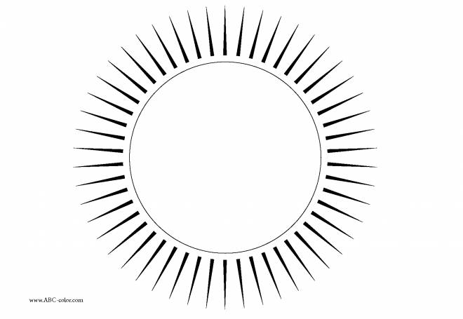 Free coloring and drawings Sun on computer Coloring page