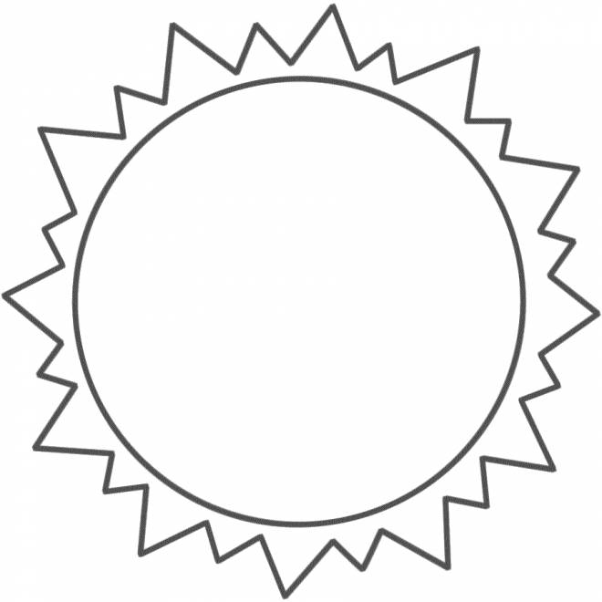 Free coloring and drawings Sun seen from Earth Coloring page