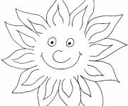 Coloring pages Sun shines in color