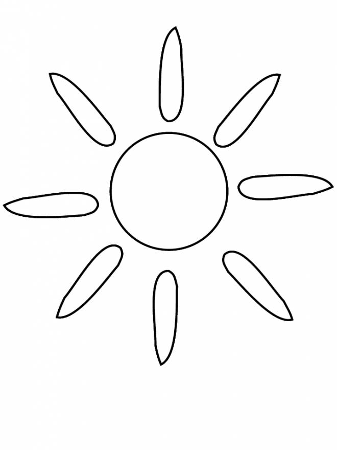 Free coloring and drawings Sun Silhouette Coloring page