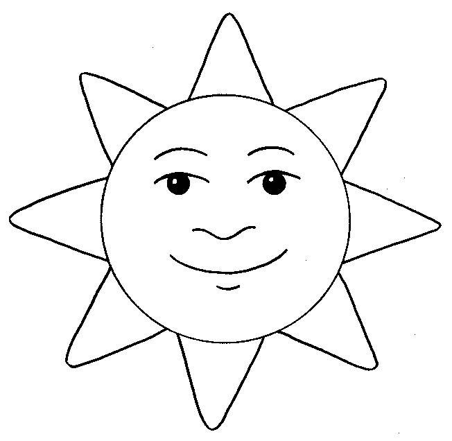 Free coloring and drawings Sun to decorate Coloring page