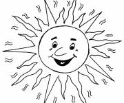Coloring pages Sun while smiling