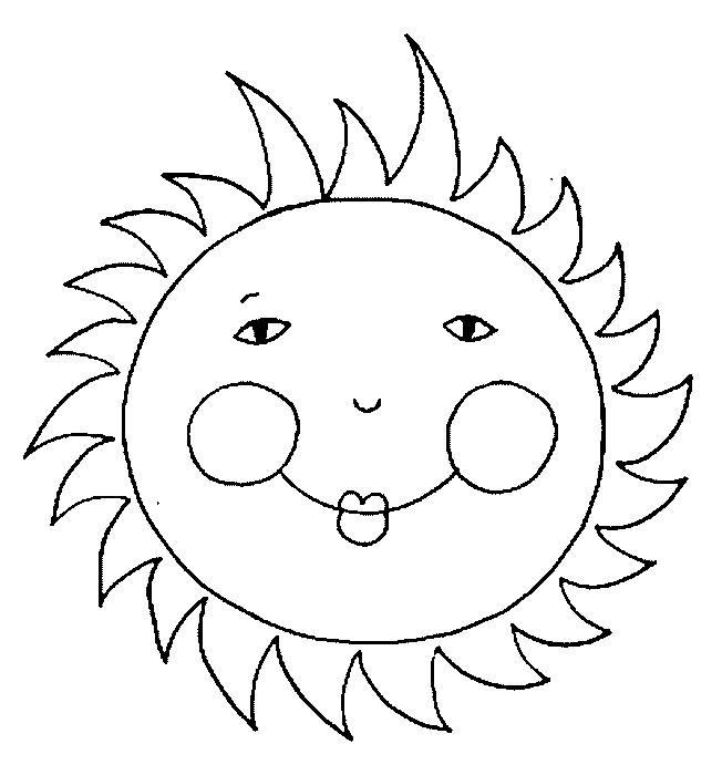 Free coloring and drawings Sun with little eyes Coloring page