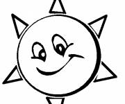 Coloring pages The Animated Sun