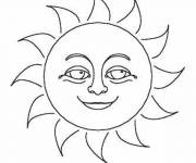 Coloring pages The beautiful Sun