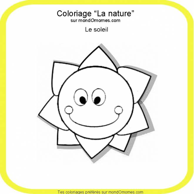 Free coloring and drawings The natural Sun Coloring page
