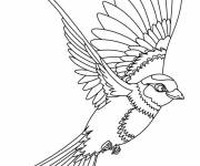Free coloring and drawings Maternal swallow Coloring page