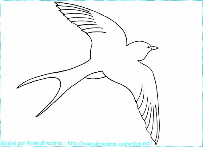 Free coloring and drawings Swallow in the sky Coloring page