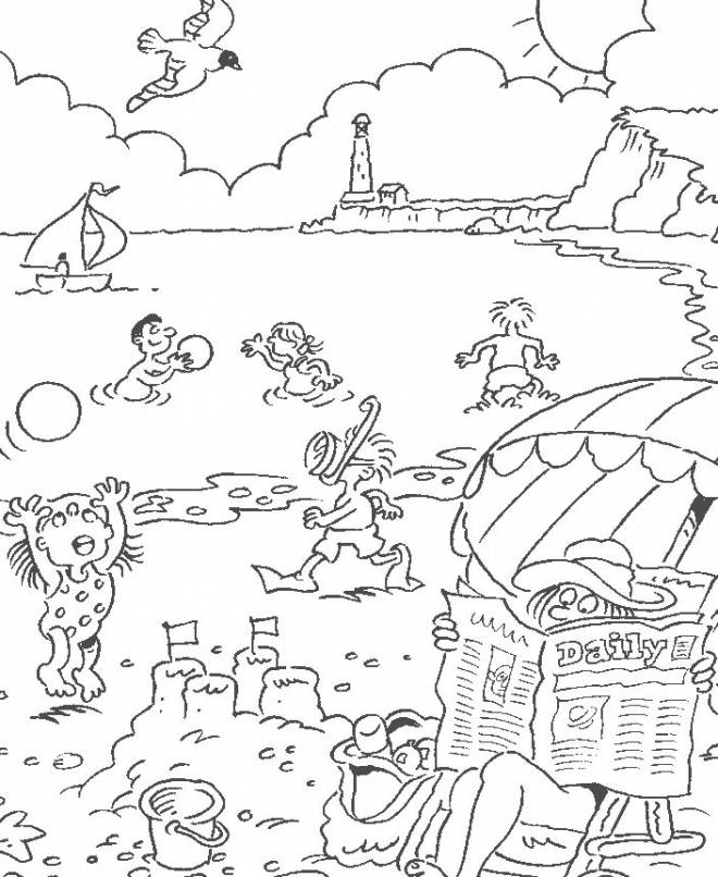 Free coloring and drawings Beach and Sea Coloring page