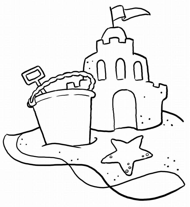 Free coloring and drawings Beach Sand Coloring page
