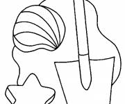 Coloring pages Beach Toys