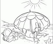 Coloring pages Daisy on The Beach
