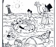 Coloring pages Family In The Beach