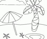 Coloring pages Fantastic beach