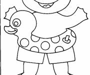 Coloring pages Frog and sea chambermaid