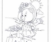 Coloring pages Little Bear and The Beach