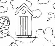 Coloring pages Little house at the beach