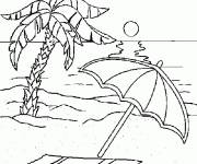 Coloring pages Paradise Beach