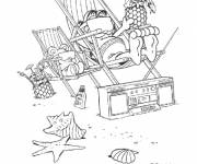 Coloring pages Peace at the Beach