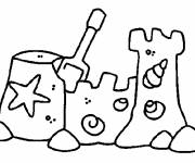 Free coloring and drawings Sand Castle Beach Coloring page