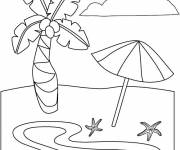 Coloring pages The beach