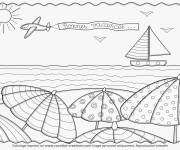 Coloring pages The Beach and The Vacation