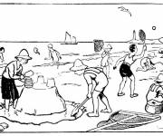 Coloring pages The Beach in Color