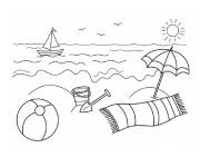 Coloring pages The Stylized Beach