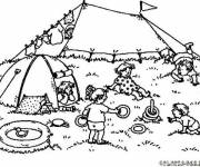 Coloring pages The tent and The Beach