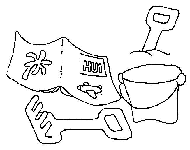 Free coloring and drawings Toys on the Beach Coloring page