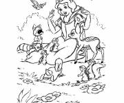 Free coloring and drawings Animals & Princess Forest Coloring page