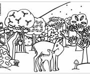 Free coloring and drawings Forest animals Coloring page