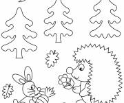 Free coloring and drawings Kindergarten Animals Coloring page
