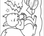Free coloring and drawings Squirrel in the Forest Coloring page