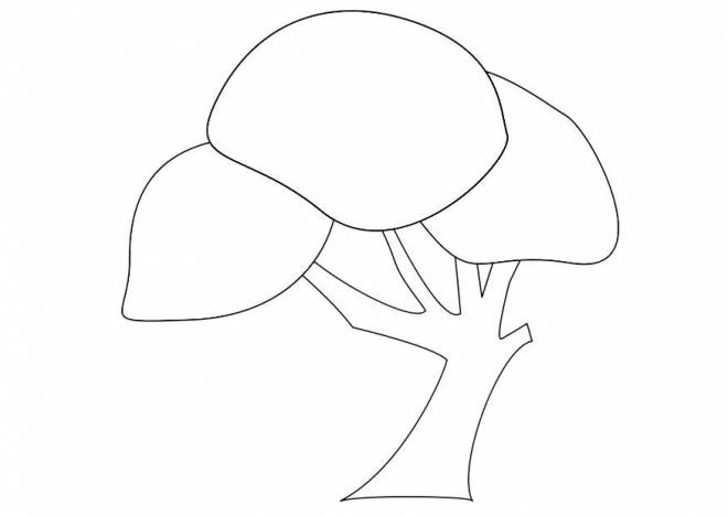 Free coloring and drawings Artistic trees Coloring page