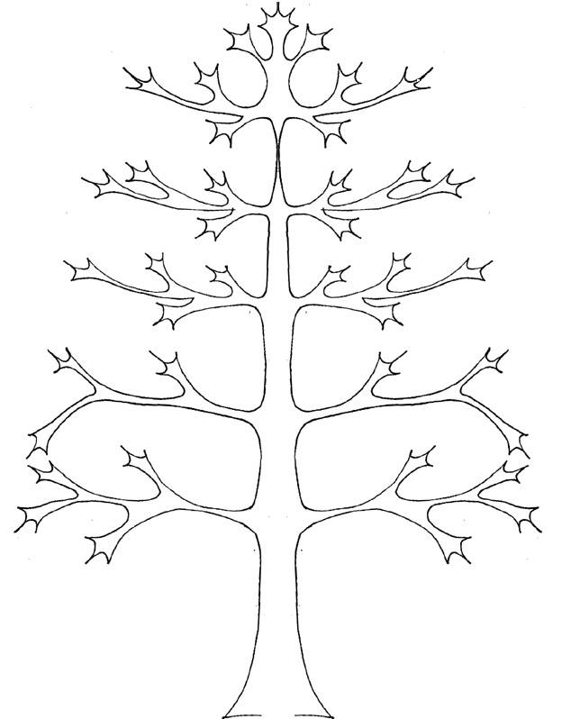 Free coloring and drawings Autumn Leafless Tree Coloring page
