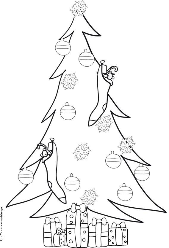 Free coloring and drawings Christmas tree Coloring page