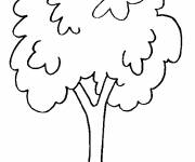 Coloring pages Easy to decorate trees