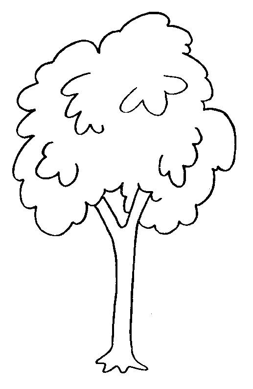 Free coloring and drawings Easy to decorate trees Coloring page