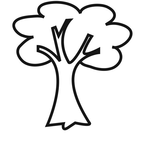 Free coloring and drawings Online tree Coloring page