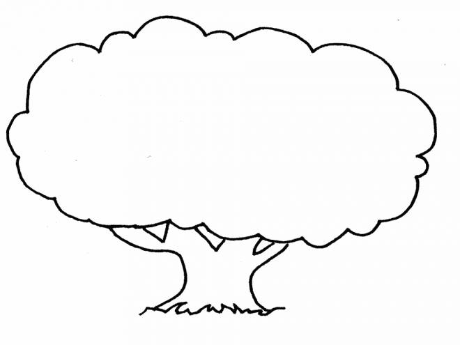 Free coloring and drawings Single tree Coloring page