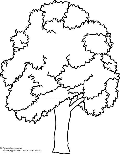 Free coloring and drawings Tree and environment Coloring page