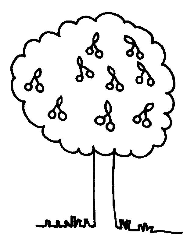 Free coloring and drawings Tree and its Fruits Coloring page