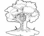 Coloring pages Tree House